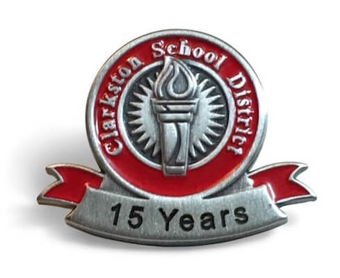 15 year school district service pin
