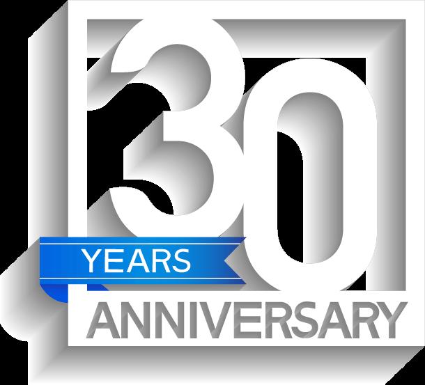 monterey company 30 year anniversay logo