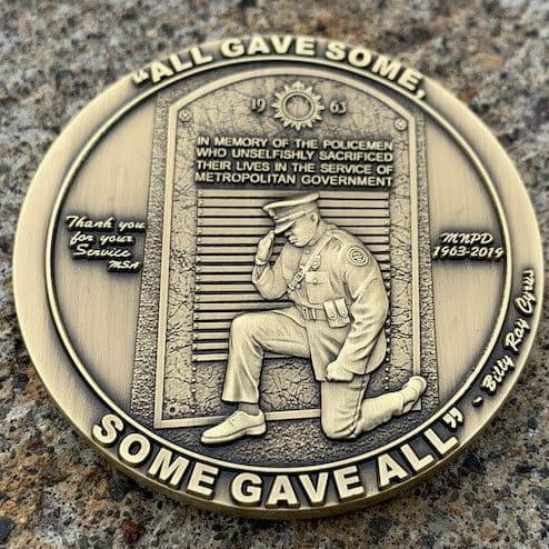 3d police coin design