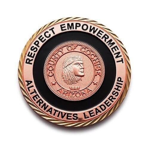 copper leadership coin