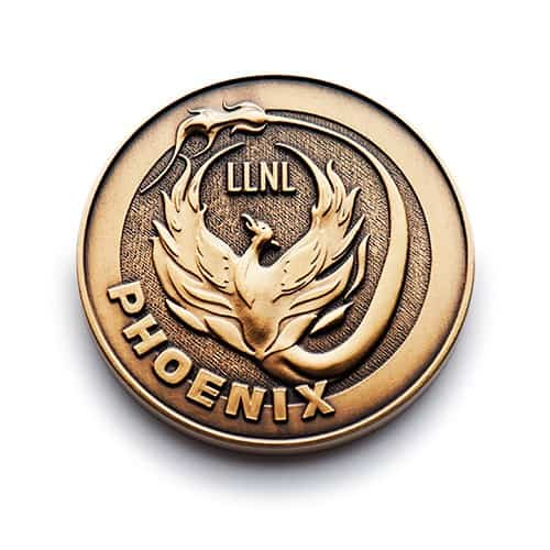 Custom Gold Phoenix Coin