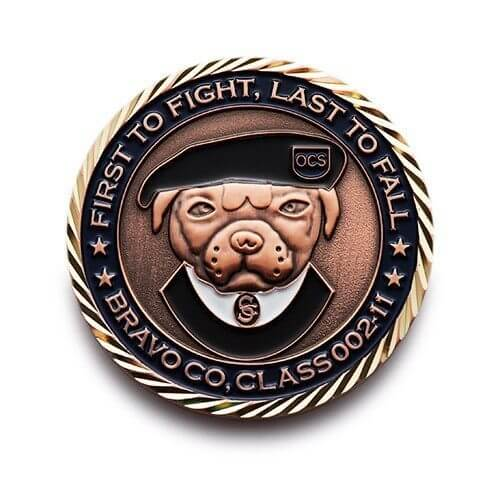 armed forces 3d bulldog personalized coins