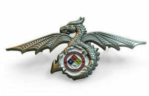 custom 3d dragon die struck lapel pin