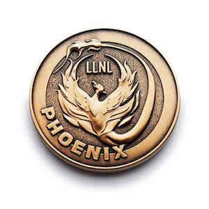 Custom Gold Phoenix Coin
