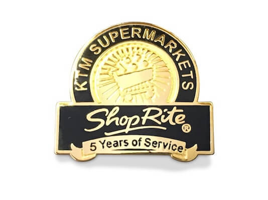 5 year service award pin