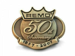 50 years of service pin in antique bronze