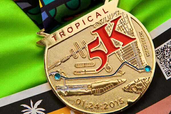 custom 5k race medal
