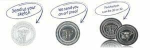 lapel pin artwork & design