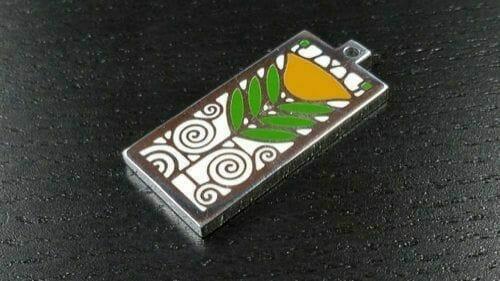 custom silver pendant