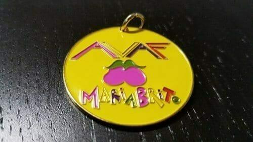 custom logo charms with yellow enamel