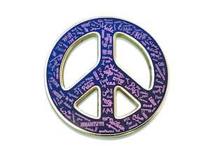 custom printed peace sign pin