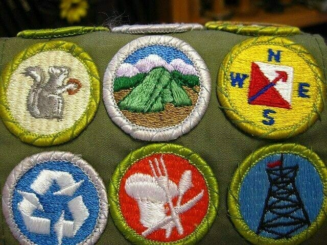 embroidered scout patches