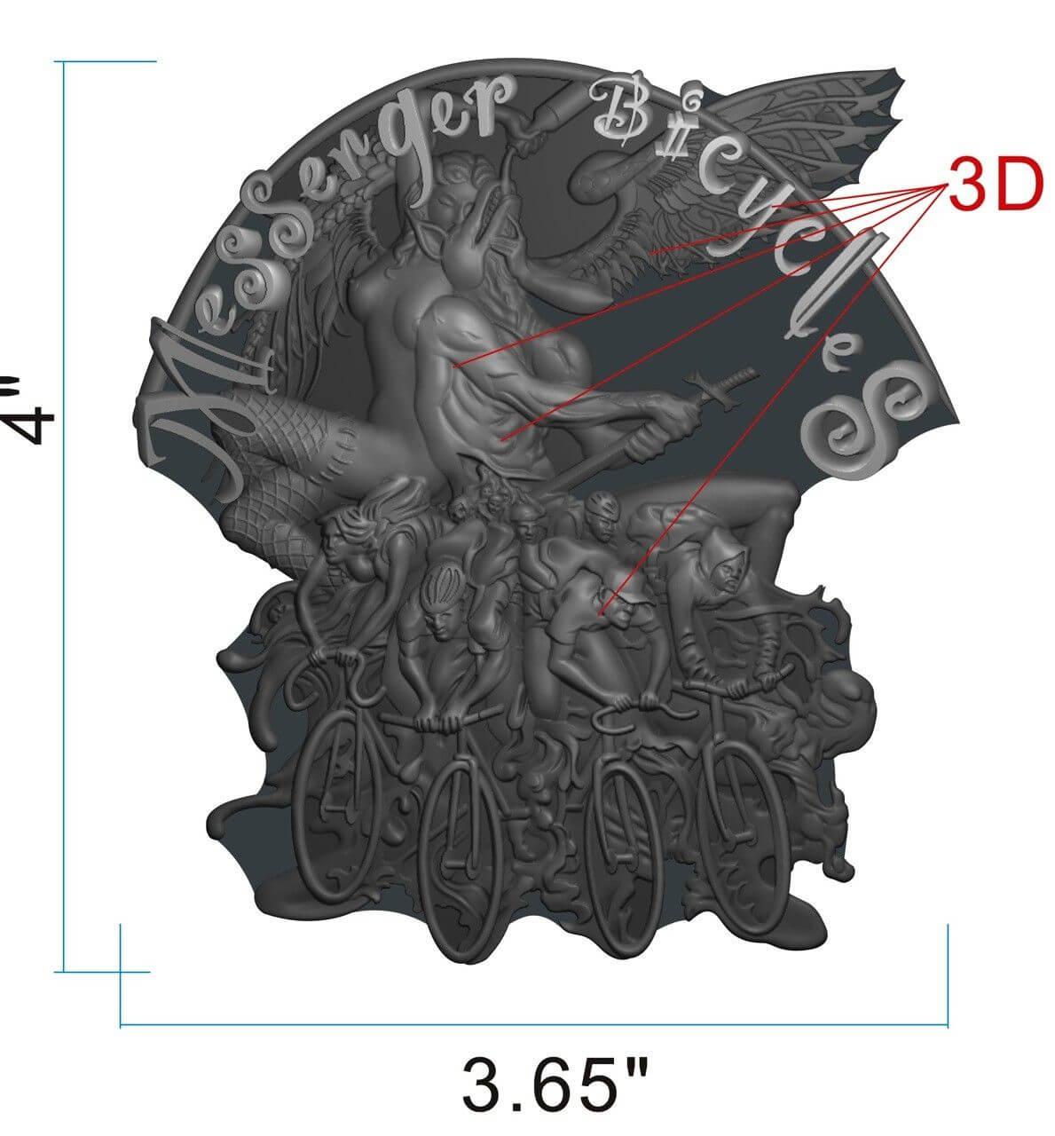 3D Head Badge
