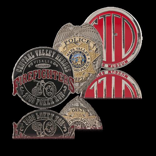 custom police pins