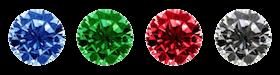 gemstone colors for custom pins