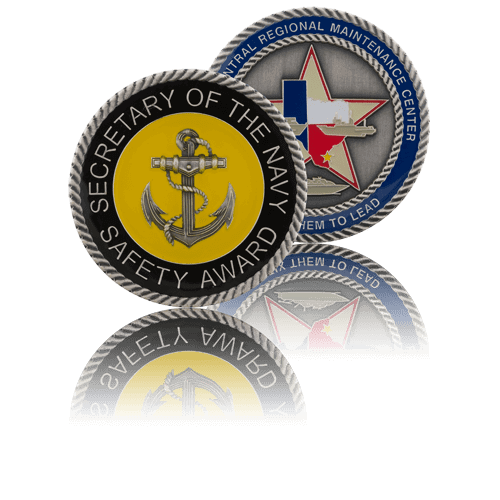 navy military coins