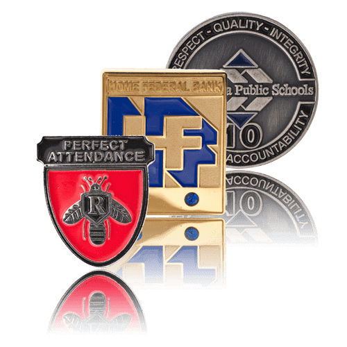 three pin styles