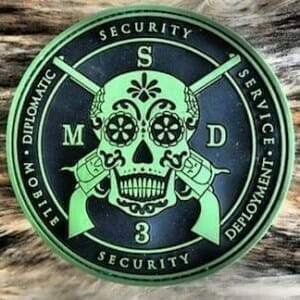 green skull rubber patch