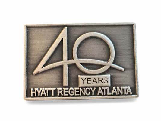 die struck lapel pins 40 year logo