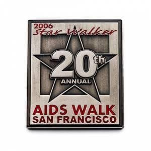 awareness pins for aids walk