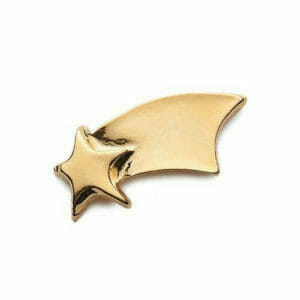 shooting star gold awareness pin