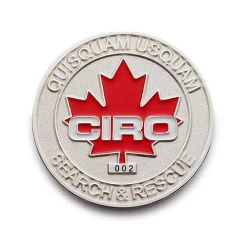 canadian International rescue coin