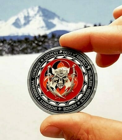 challenge coin with cut outs