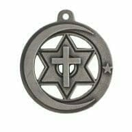 customized charm pendant with silver logo