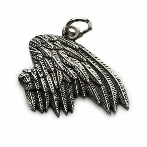 silver wings charm