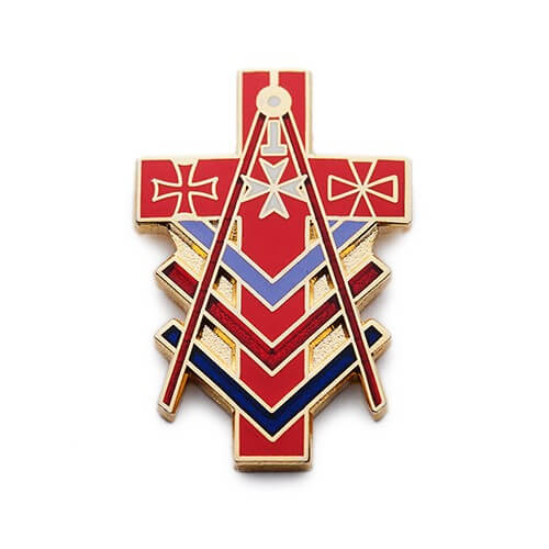custom cloisonné pins for red cross
