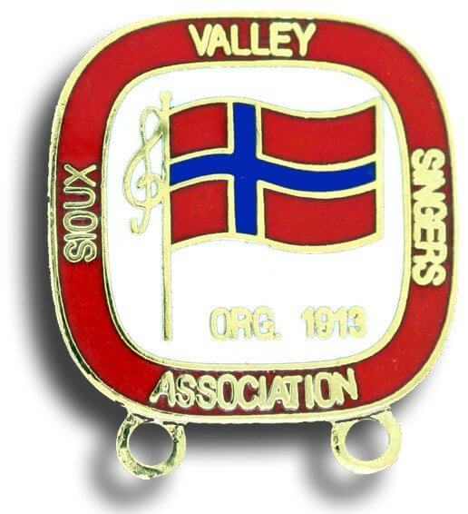 custom cloisonné pin for Sioux Valley