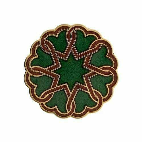 star and hearts custom cloisonne pins