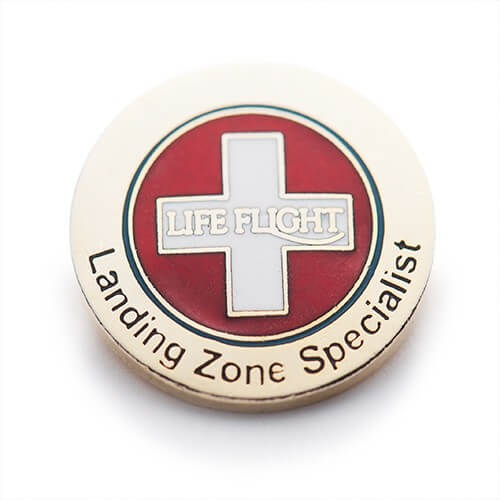 custom cloisonné pins for landing zone specialists