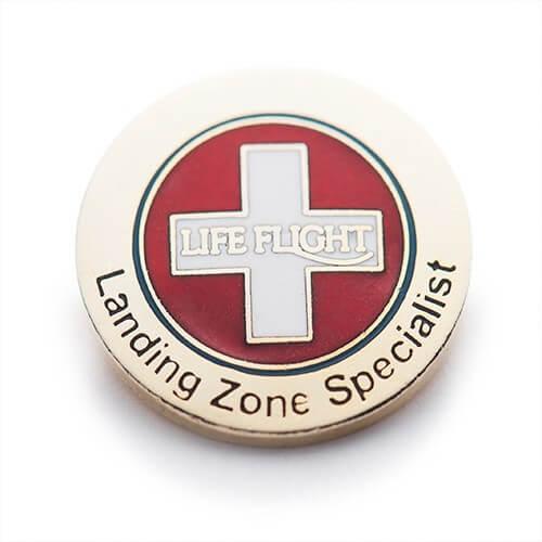 custom cloisonne pins for lifeflight