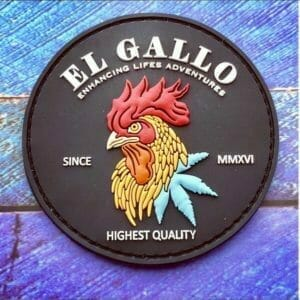 pvc patch with rooster logo