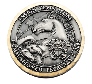 3d coin with horses