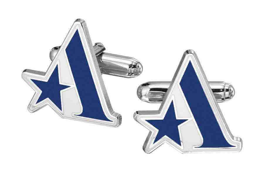 company logo cufflinks
