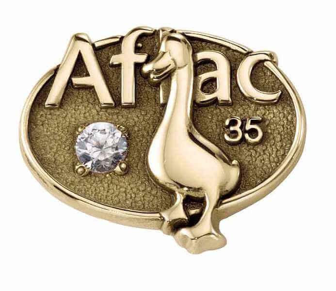company lapel pin with diamond