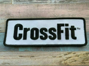 crossfit embroidery patch