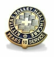 10 year healthcare lapel pin