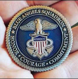 custom blue angels coin