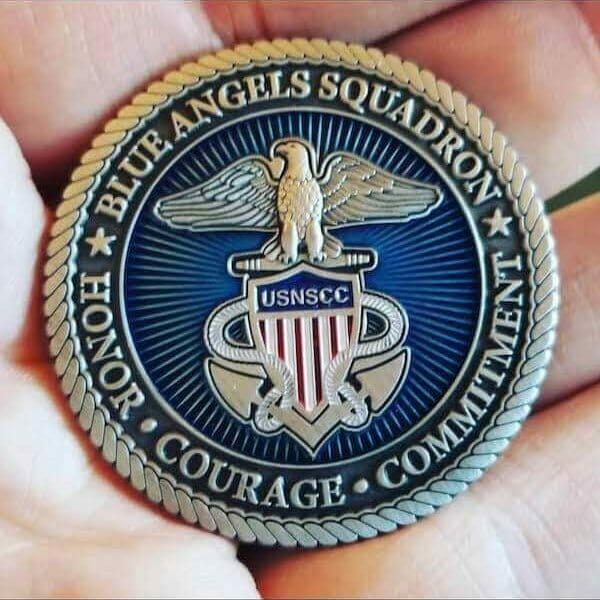 custom blue angels coin