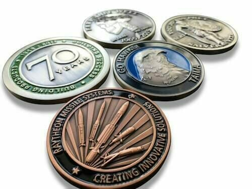 custom coins with logos