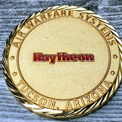 custom raytheon coin
