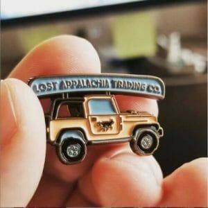 Jeep Canoe Pin Design
