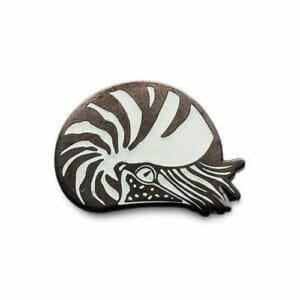 custom hard enamel pins nautilus design