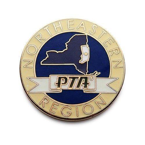 pta school lapel pin