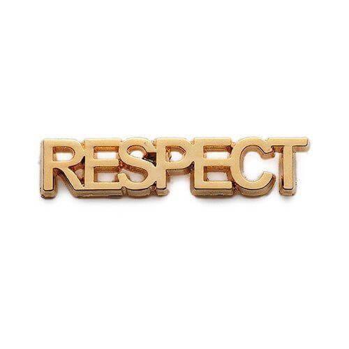cast respect lapel pin