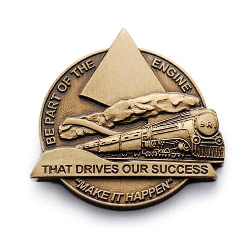 custom company success coin