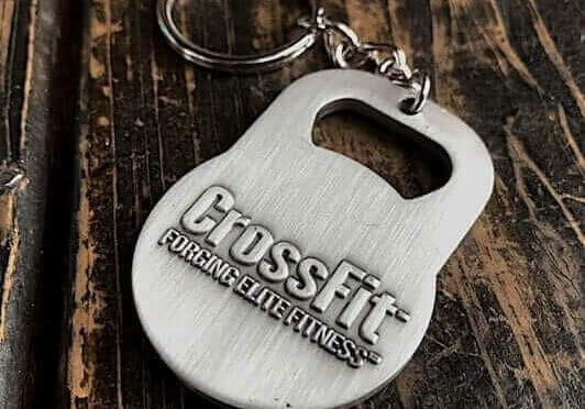 custom crossfit metal keychain